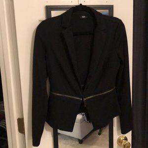 Black blazer with detachable bottom